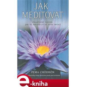 Jak meditovat. Praktický návod, jak se spřátelit se svou myslí - Pema Chödrön e-kniha