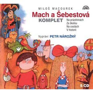 Mach a Šebestová, CD - komplet. Na prázdninách; Za školou; Na cestách; V historii, CD - Miloš Macourek