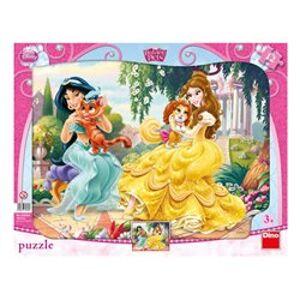 Puzzle Princezny & mazlíčci 12 dílků