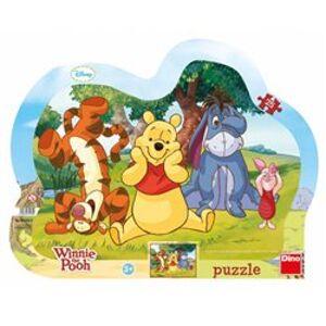 Puzzle Schovávaná s medvídkem Pú 25 dílků