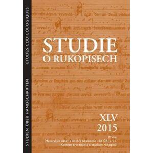 Studie o rukopisech XLV/2015