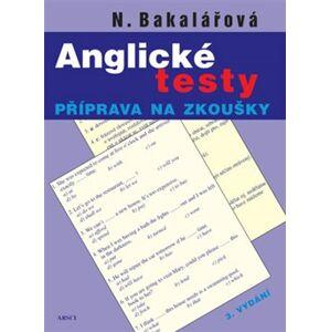 Anglické testy - Natálie Bakalářová