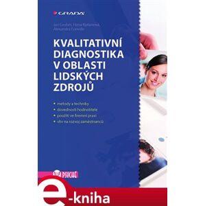 Kvalitativní diagnostika v oblasti lidských zdrojů - Jan Gruber, Hana Kyrianová, Alexandra Fonville e-kniha
