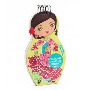 Oblékáme španělské panenky Ines - omalovánky - Julie Camel