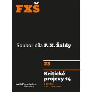 Kritické projevy 14. Dodatky z let 1898–1937 - F. X. Šalda