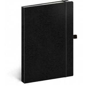 Notes - Vivella Classic černý/černý, linkovaný, 15 x 21 cm