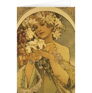 Blahopřání Alfons Mucha – Flower