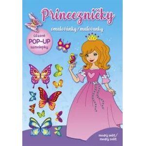 Princezničky – omalovánky modrý sešit